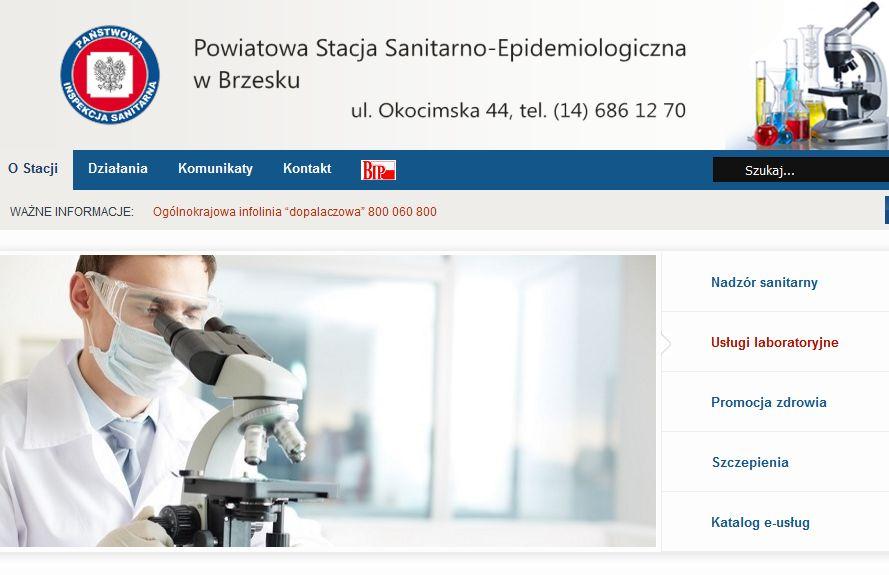 Komunikat Państwowego Powiatowego Inspektora Sanitarnego w Brzesku